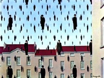 (Golconda, René Magritte, 1953)